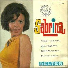 Discos de vinilo: SABRINA EP SELLO BELTER AÑO 1967 EDITADO EN ESPAÑA. Lote 36808346