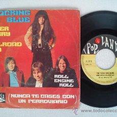 Discos de vinilo: SHOCKING BLUE . NEVER MARRY A RAILROAD MAN + ROLL ENGINE ROLL . ED.ESPAÑOLA 1970. Lote 36808367