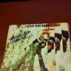 Discos de vinilo: TONY RONALD - I LOVE YOU BABY - SINGLE 1978 -. Lote 36811900
