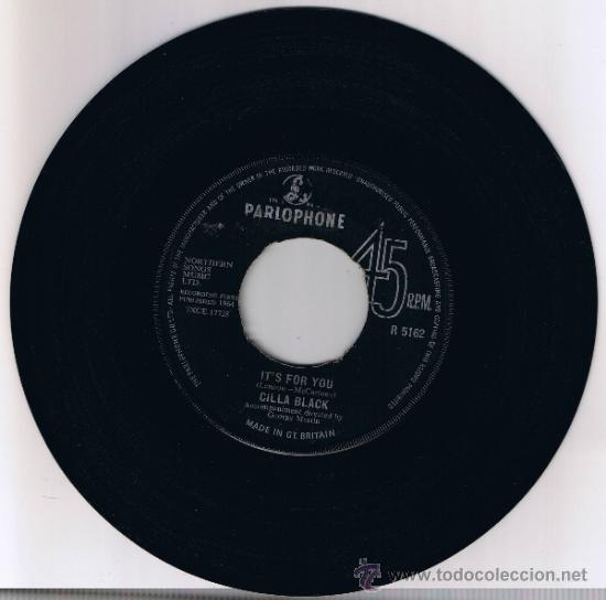 CILLA BLACK - IT'S FOR YOU - HE WON'T ASK ME - 1964 (Música - Discos - Singles Vinilo - Pop - Rock Internacional de los 50 y 60)