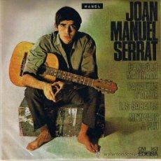 Discos de vinilo: JOAN MANUEL SERRAT - CANÇO DE MATINADA - PARAULES D'AMOR - LES SABATES - ME'N VAIG A PEU - 1966. Lote 36814817