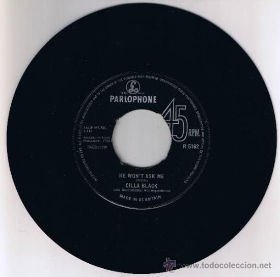Discos de vinilo: CILLA BLACK - ITS FOR YOU - HE WONT ASK ME - 1964 - Foto 2 - 36814505