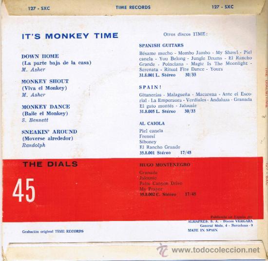 Discos de vinilo: THE DIALS - ITS MONKEY TIME - LA PARTE BAJA DE LA CASA - BAILE EL MONKEY - MOVERSE ALREDEDOR - 1964 - Foto 2 - 36814368