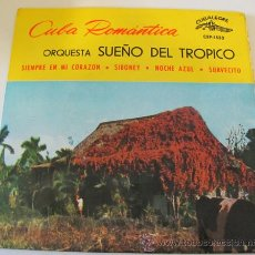 Discos de vinilo: CUBA ROMANTICA - ORQUESTA SUEÑO DEL TROPICO - EP 1963. Lote 36851085