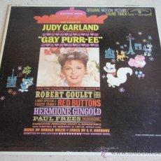 Discos de vinilo: JUDY GARLAND ( GAY PURR-EE ) USA LP33 WARNER BROS RECORDS. Lote 36882745