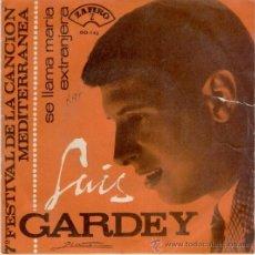 Disques de vinyle: LUIS GARDEY - SE LLAMA MARIA ( FESTIVAL CANCION MEDITERRANEA ) SG SPAIN 1965 VG+ / VG++. Lote 36887321