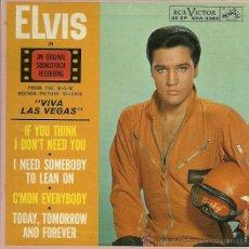 Discos de vinilo: ELVIS PRESLEY EP SELLO RCA VICTOR ORIGINAL AMERICANO. Lote 36889590