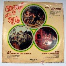 Discos de vinilo: CHIRIGOTAS DE CADIZ BELTER 1971. Lote 36890033