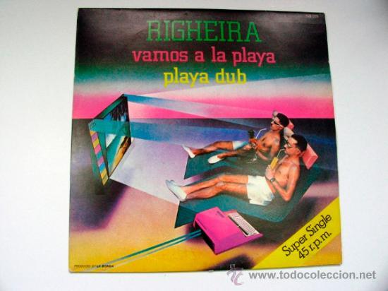 RIGHEIRA VAMOS A LA PLAYA SUPER SINGLE 1983 (Música - Discos de Vinilo - EPs - Pop - Rock - New Wave Internacional de los 80)