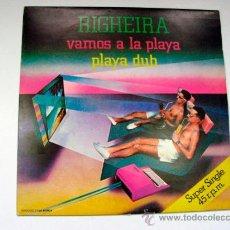 Discos de vinilo: RIGHEIRA VAMOS A LA PLAYA SUPER SINGLE 1983. Lote 36890142