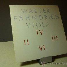 Discos de vinilo: WALTER FAHNDRICH VIOLA VINILO LP. Lote 36895542