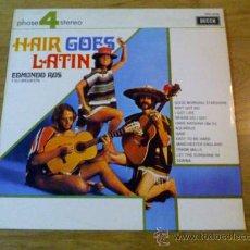 Discos de vinilo: HAIR GOES LATIN. EDMUNDO ROS Y SU ORQUESTA. 1970. Lote 86647316