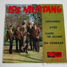 Discos de vinilo: SINGLE LOS MUSTANG, ¡SOCORRO!. Lote 36899852