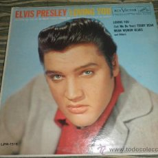 Discos de vinilo: ELVIS PRELEY - LOVING YOU - ORIGINAL U.S.A. RCA VICTOR 1957 - LONG PLAY AL PIE DEL LABEL - AUTENTICO. Lote 36901842