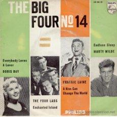 Discos de vinilo: THE BIG FOUR 14 - DORIS DAY - THE FOUR LADS - FRANKIE LAINE - MARTY WILDE - EP VG++ / VG++. Lote 36920877
