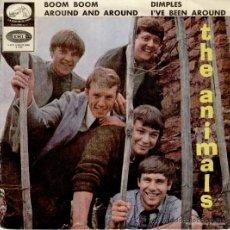 Discos de vinilo: THE ANIMALS - BOOM BOOM - AROUND AND AROUND + 2 - EP SPAIN 1965 VG+ / VG+. Lote 36921117