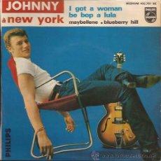 Discos de vinilo: EP-JOHNNY HALYDAY-PHILIPS 432761 FRANCE-GENE VINCENT CHUCK BERRY COVERS. Lote 36940304