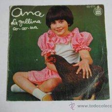 Discos de vinilo: SINGLE ANA, LA GALLINA CO CO UA.. Lote 36998430