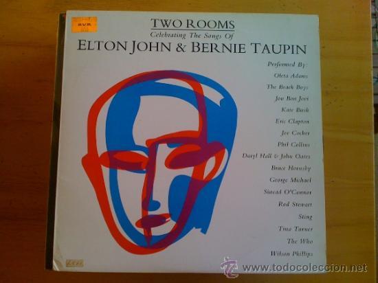 ELTON JOHN & BERNIE TAUPIN - TWO ROOMS - (Música - Discos - LP Vinilo - Pop - Rock - New Wave Extranjero de los 80)