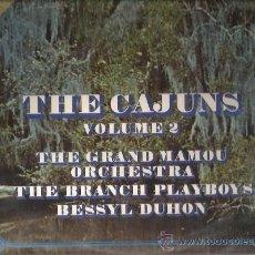 Discos de vinilo: LP THE CAJUNS VOL 2 ( LE GRAND MAMOU ORCHESTRA, THE BRANCH PLAYBOYS, BESSYL DUHON ) . Lote 36967066