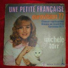 Discos de vinilo: MICHÈLE TORR (EUROVISION 77). Lote 36968221
