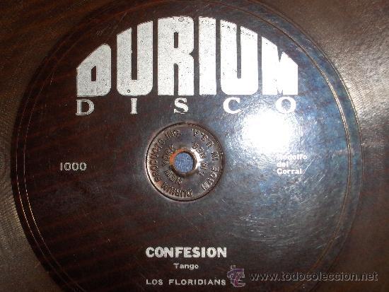 Discos de vinilo: DISCO DURIUM CONFESION TANGO LOS FLORIDIANS 1931 MADE IN USA NEW YORK - Foto 3 - 36985062
