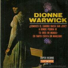 Discos de vinilo: DIONNE WARWICK EP SELLO VERGARA AÑO 1968 EDITADO EN ESPAÑA . Lote 36990792