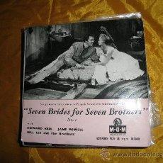 Discos de vinilo: SEVEN BRIDES FOR SEVEN BROTHERS. Nº 1. EP. M.G.M. EDICION INGLESA. Lote 37008734