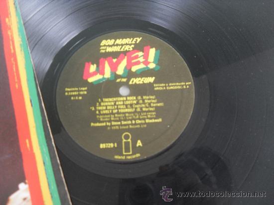Discos de vinilo: BOB MARLEY LP Live Made in Germany 1975 matrix 89729 - Foto 3 - 37000748