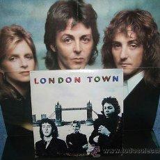Discos de vinilo: THE BEATLES, PAUL MCCARTNEY / LONDON TOWN 78 !! RARA Y COMPLETA 1ª EDIT ORIG UK + GRAN POSTER !! EXC. Lote 37012139