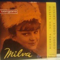 Discos de vinilo: MILVA RICORDA + 3 EP VERGARA 1963 EXCEPCIONAL. Lote 37019825