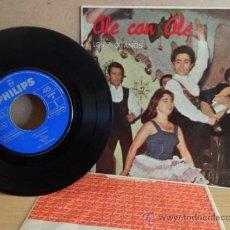 Discos de vinilo: LOS 7 GITANOS. OLE CON OLE. EP PHILIPS - 1963. CON LENGÜETA Y FUNDA INTERIOR. ***/***. Lote 37021000
