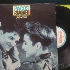 Discos de vinilo: PACO ORTEGA ISABEL MONTERO SIGUEME LP ALBUM + ENCARTE PEPETO. Lote 37026523