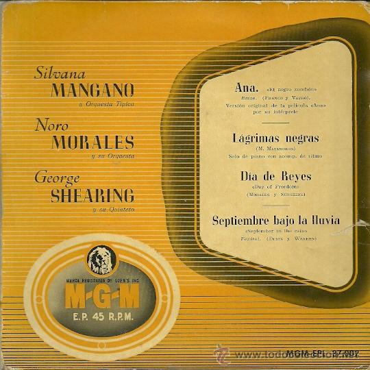 SILVANA MANGANO / NONO MORALES EP SELLO MGM AÑO 1958 EDITADO EN ESPAÑA. (Música - Discos de Vinilo - EPs - Bandas Sonoras y Actores)