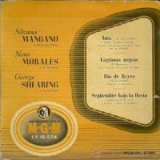 Discos de vinilo: SILVANA MANGANO / NONO MORALES EP SELLO MGM AÑO 1958 EDITADO EN ESPAÑA.. Lote 37027792