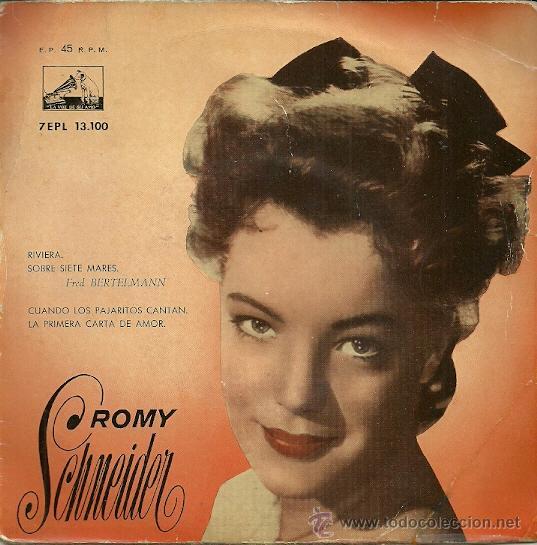 ROMY SCHNEIDER EP SELLO LA VOZ DE SU AMO AÑO 1958 EDITADO EN ESPAÑA. (Música - Discos de Vinilo - EPs - Bandas Sonoras y Actores)
