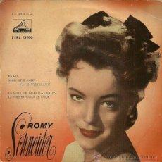 Discos de vinilo: ROMY SCHNEIDER EP SELLO LA VOZ DE SU AMO AÑO 1958 EDITADO EN ESPAÑA.. Lote 37027799