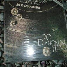 Discos de vinilo: LP-NEIL DIAMOND-20 DIAMONDS HITS-AÑOS 1960/1970-VER FOTOS.. Lote 37041349