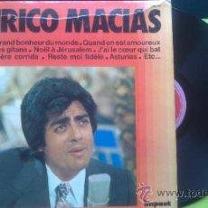Discos de vinilo: ENRICO MACIAS / LE PLUS GRAND BONHEUR DU MONDE...LP IMPACT/1968-1970 FRANCE PEPETO. Lote 37045964