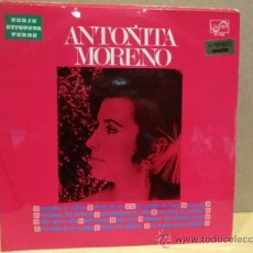 Discos de vinilo: ANTOÑITA MORENO. SERIE ETIQUETA VERDE. LP ZAFIRO - 1969. BUENA CALIDAD. ***/***. Lote 37066373