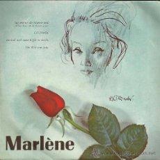 Discos de vinilo: MARLENE DIETRICH EP SELLO LA VOZ DE SU AMO EDITADO EN HOLANDA. Lote 37043594