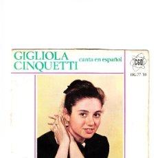 Discos de vinilo: GINGLIOLA CINQUETTI CANTA EN ESPAÑOL 1964. Lote 37056242