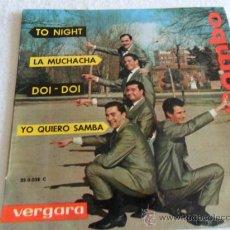 Discos de vinilo: LATIN COMBO - TO NIGHT + 3 EP 1963. Lote 37122765