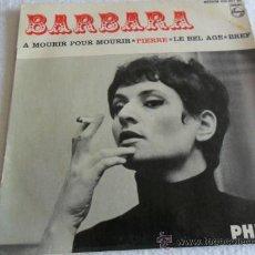 Discos de vinilo: BARBARA - A MOURIR POUR MOURIR + 3 EP. Lote 37139665