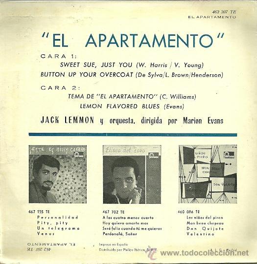 Discos de vinilo: JACK LEMON EP SELLO FONTANA AÑO 1960 EDITADO EN ESPAÑA - Foto 2 - 37077811