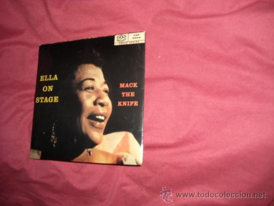 ELLA FITZGERALD EP MACK THE KNIFE 196? SWEDEN VER FOTO ADICIONAL (Música - Discos de Vinilo - EPs - Jazz, Jazz-Rock, Blues y R&B)