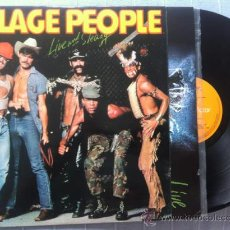Discos de vinilo: LP DOBLE-VILLAGE PEOPLE-LIVE AND SLEAZY. Lote 37078232