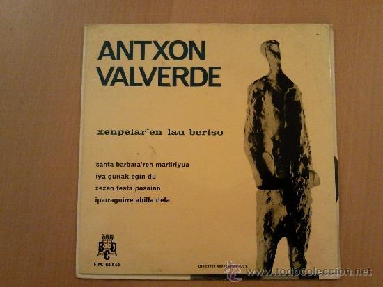 ANTXON VALVERDE XENPELAR´EN LAU BERTSO EP (Música - Discos de Vinilo - EPs - Country y Folk)