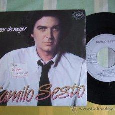 Discos de vinilo: CAMILO SESTO / AMOR DE MUJER / SINGLE 1983. COMO NUEVO. Lote 37086558