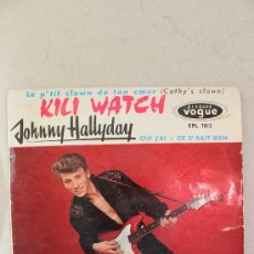 Discos de vinilo: DISCO JOHNNY HALLYDAY - KILI WATCH. Lote 37094121